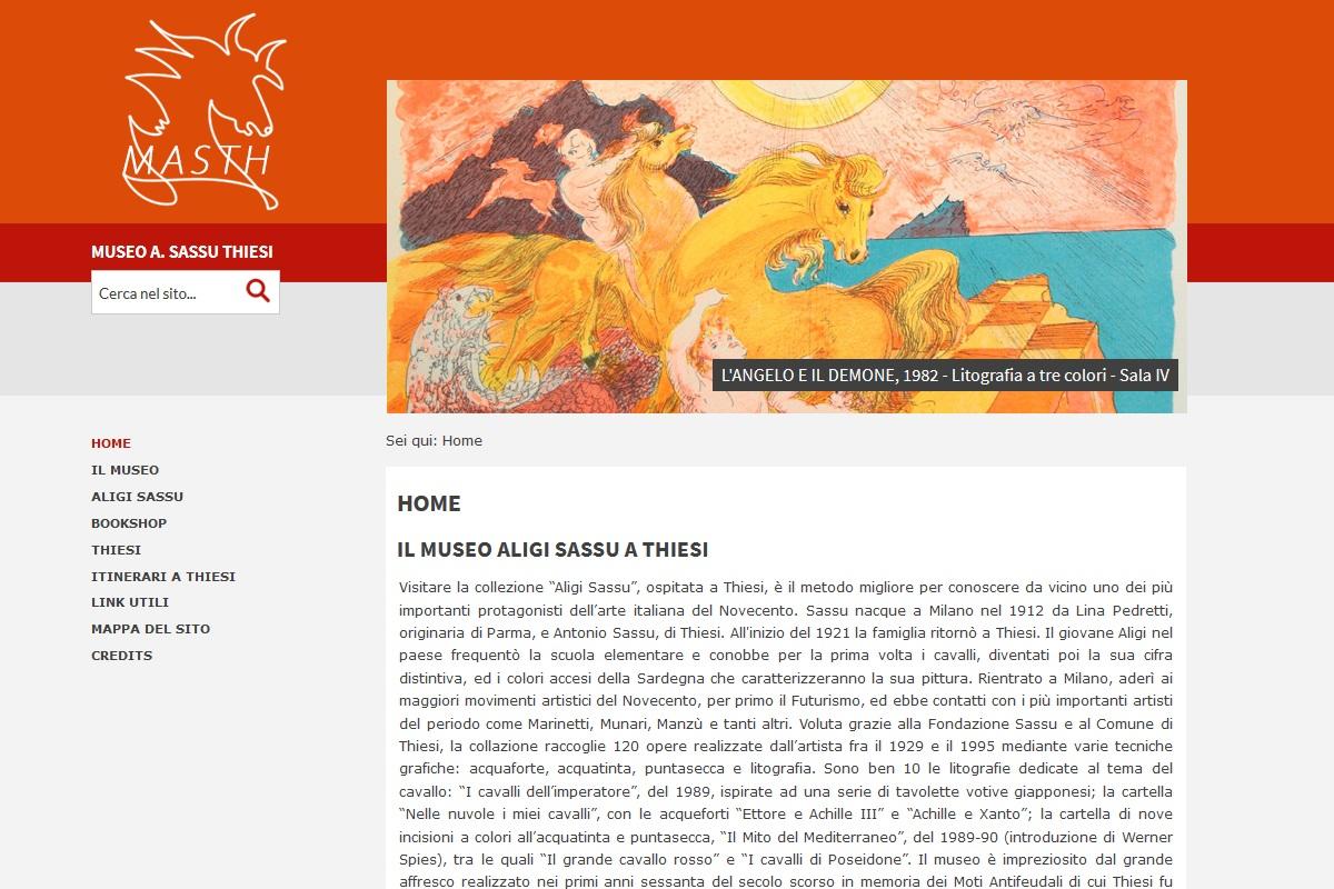 Home page sito Museo Aligi Sassu a Thiesi