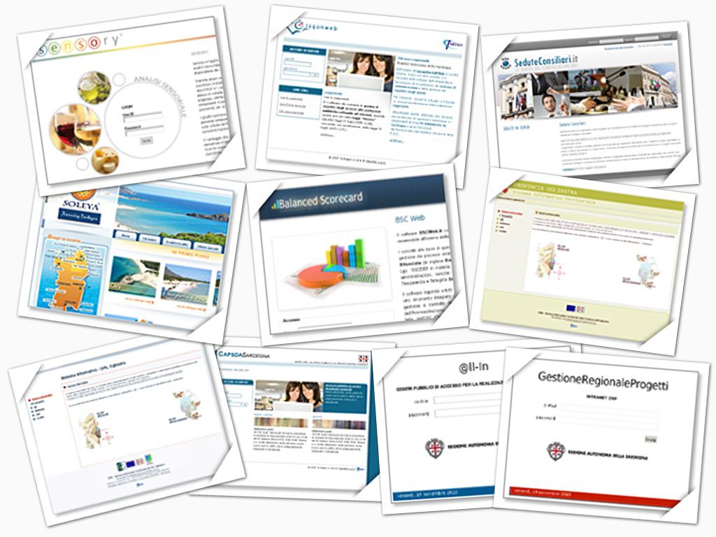 Collage copertine applicazioni web